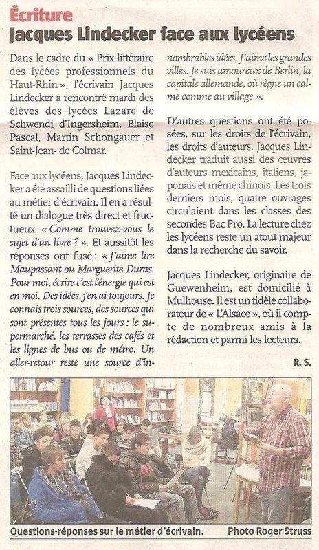 Jacques Lindecker à Colmar