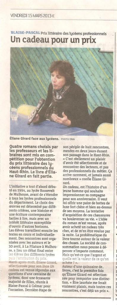 Eliane Girard à Colmar