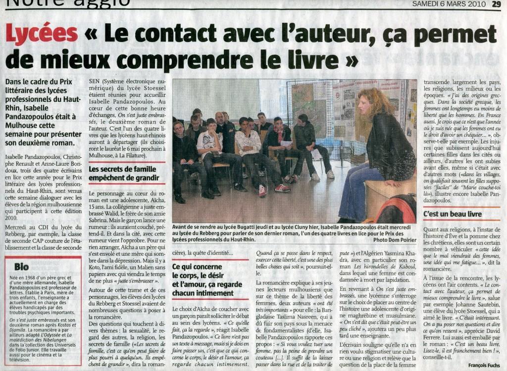 Isabelle Pandazopoulos à Mulhouse